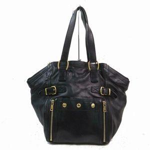 Yves Saint Laurent Black Leather Downtown bag